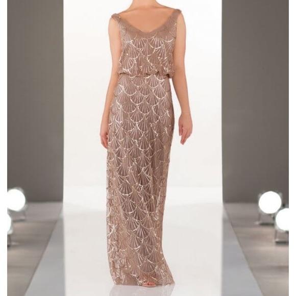 ff5fd8b5 Flirty V-Neck Sequin Bridesmaids Dress Style 9062.  M_5cadf63eabe1cef703ac9ed5